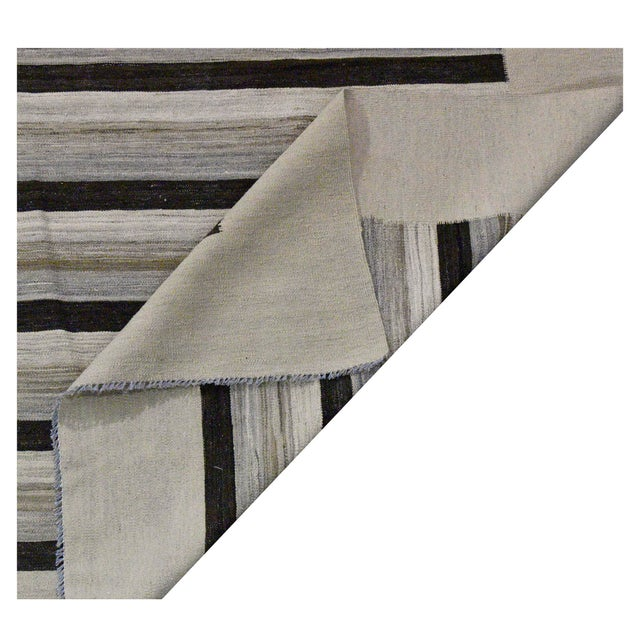 Contemporary Contemporary Striped Afghan Kilim Rug - 9'9'' x 13'5'' For Sale - Image 3 of 4