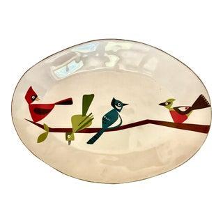 Mid-Century Modern Jane Dixon Design Modernist Ceramic Bird Platter