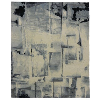 "Contemporary Abstract Paint Strokes Rug - 8'1"" x 9'11"" For Sale"