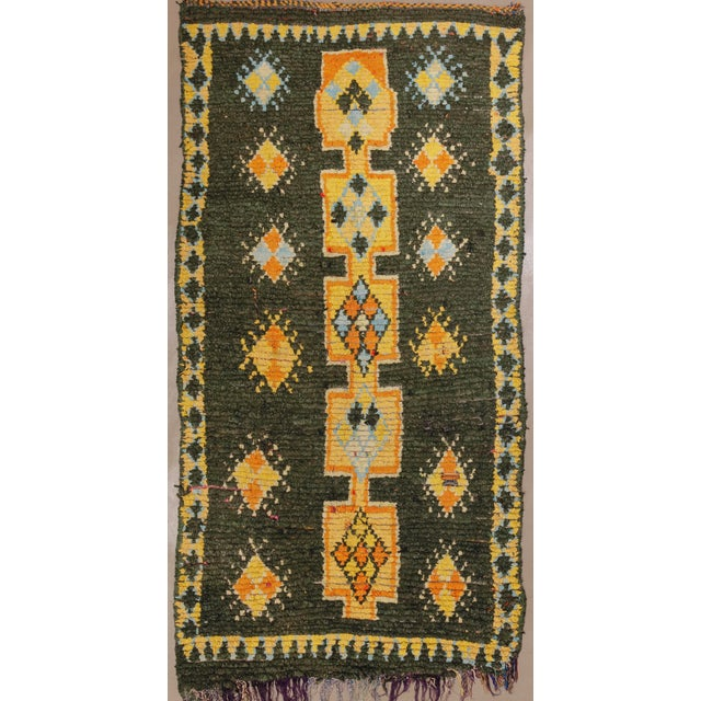 """Vintage Moroccan Rug, 3'10"""" X 7'5"""" For Sale - Image 10 of 10"""