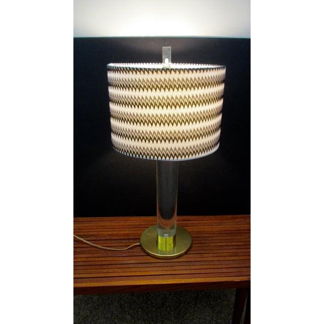 Mid Century Modern Modernist Karl Springer Style Lucite Table Lamp For Sale - Image 9 of 13
