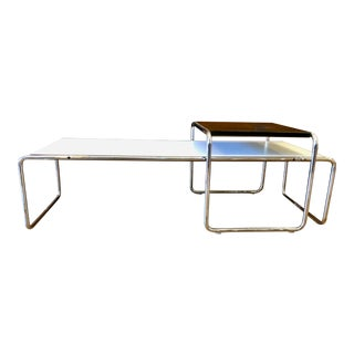 Mid Century Modern Marcel Breuer 'Laccio' Coffee & Side Table for Knoll For Sale