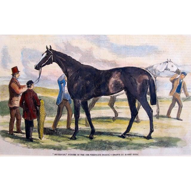 1860 Antique British Equine Print For Sale