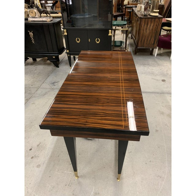 1940s French Art Deco Macassar Ebony Writing Desk For Sale In Miami - Image 6 of 13