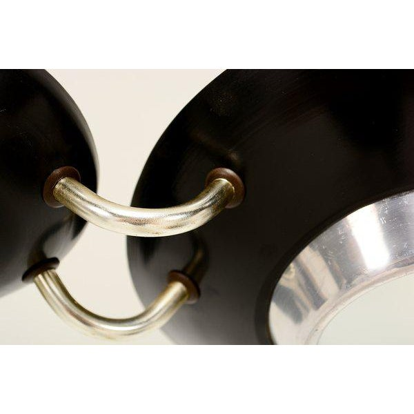 1950s Mid-Century Flush Mount Ceiling Fixture For Sale - Image 5 of 9