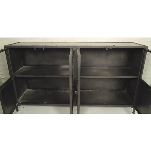 Mid 20th Century Black Metal Console For Sale - Image 5 of 6