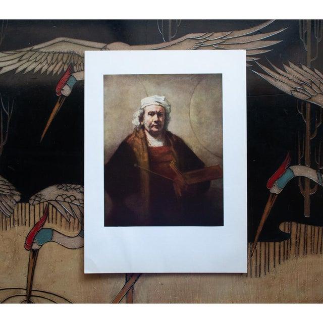 """Portraiture 1950s Rembrandt, """"Self-Portrait"""" Vintage Photogravure For Sale - Image 3 of 8"""