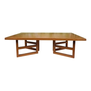 Paul Frankl Attributed Mid-Century Modern Cork Coffee Table For Sale