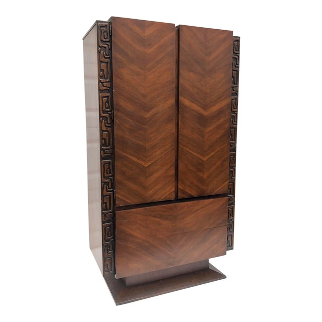 Tall Mid-Century Witco Style Armoire by United Furniture For Sale