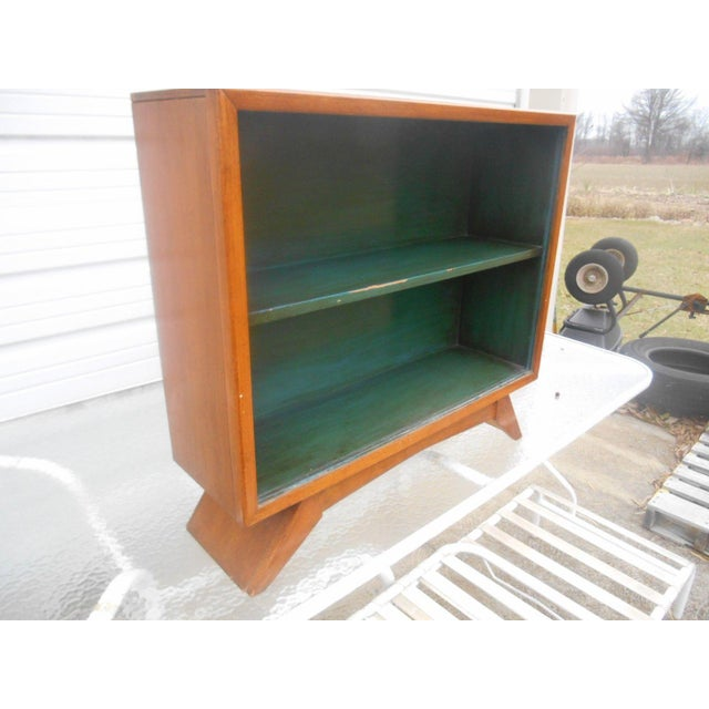 Art Deco 1930's Art Deco Petite Sliding Glass Door Bookcase For Sale - Image 3 of 8