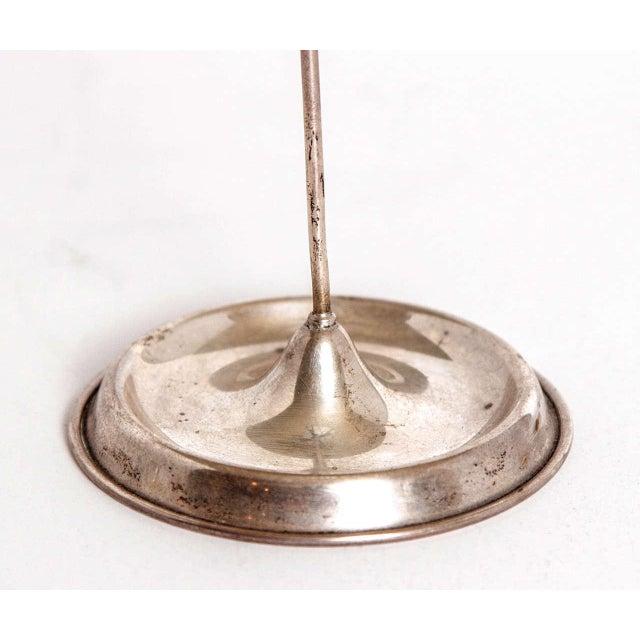 Vintage Modernist Art Deco Sterling Silver Tea Infuser Set on Original Stand For Sale In Dallas - Image 6 of 11
