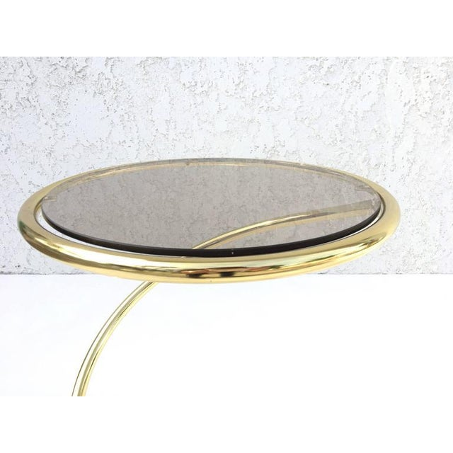 Brass Brass and Bronze Glass Spiral Occasional Tables by Pace Collection - A Pair For Sale - Image 7 of 9