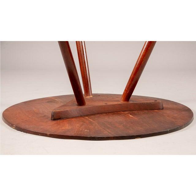 George Nakashima George Nakashima Splayed Leg Round Side Table For Sale - Image 4 of 10