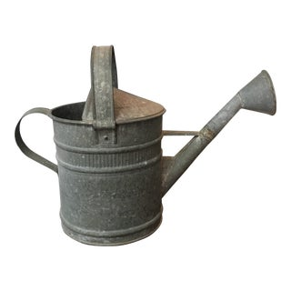 Vintage Zinc Watering Can For Sale