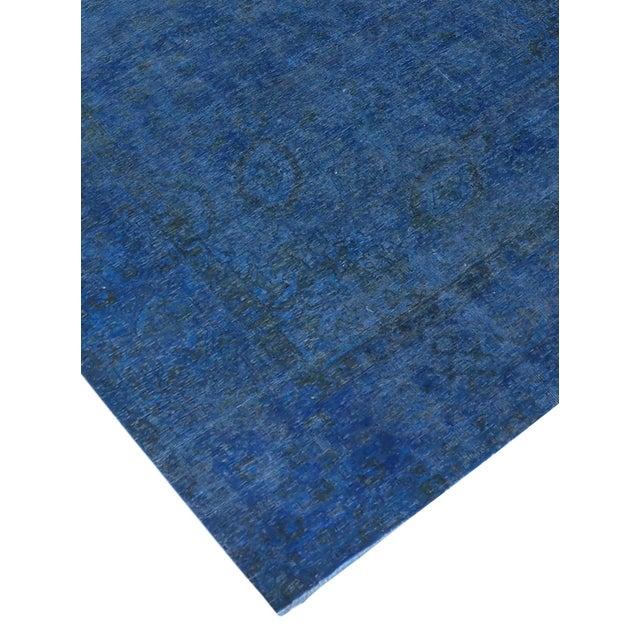 "Blue Vintage Overdyed Rug - 9'5"" X 12'9"" - Image 2 of 3"