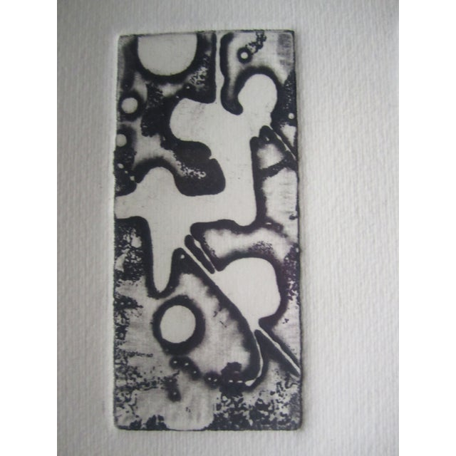 Abstract Lithograph in Black Frame - Image 3 of 5