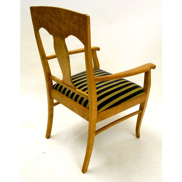 Swedish Jugendstil Birch Armchairs - A Pair - Image 5 of 8