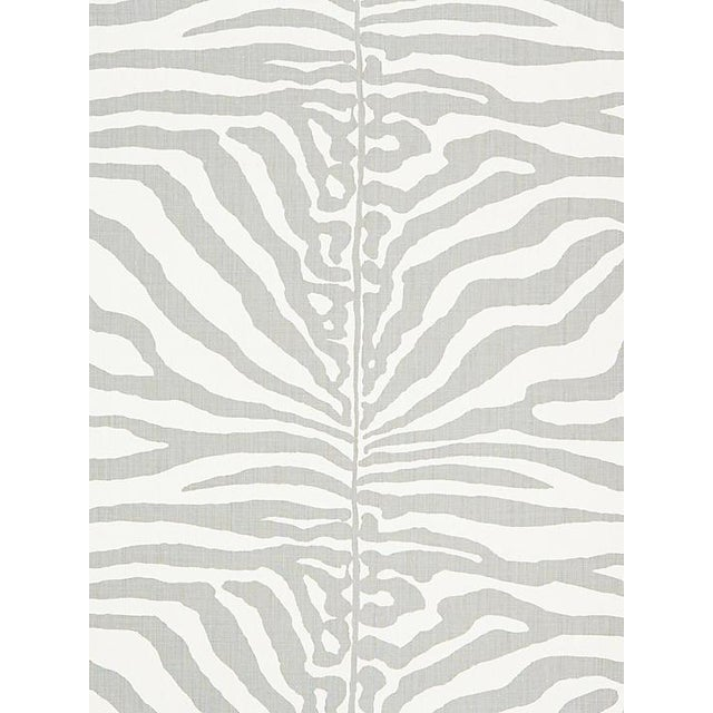 Sample, Scalamandre Zebra, Zinc Fabric For Sale