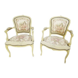 1950's French Louis XV Chairs For Sale