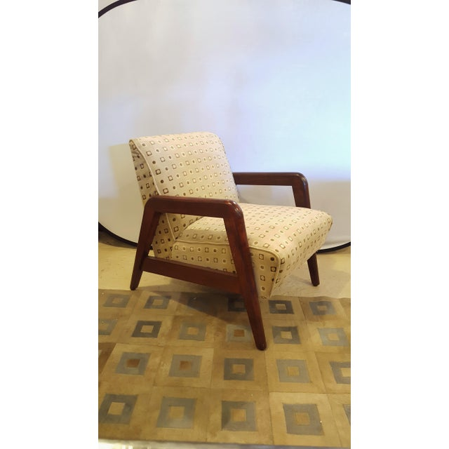 1980s Mid-Century Modern Armchairs - A Pair For Sale - Image 5 of 8