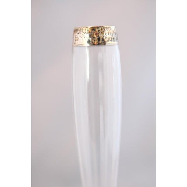 Antique Hammered Sterling & Crystal Bud Vase - Image 6 of 9