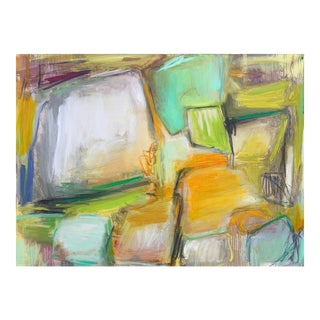 """""""Boulder"""" by Trixie Pitts Large Abstract Oil Painting For Sale"""