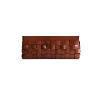 Rustic Leather Basket Whisky Vintage For Sale