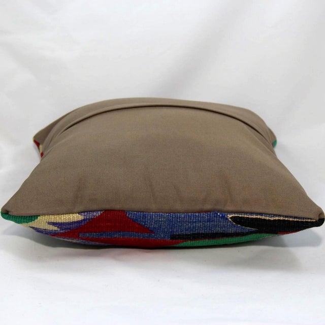 Turkish Handmade Kilim Pillow Cover - Image 4 of 5