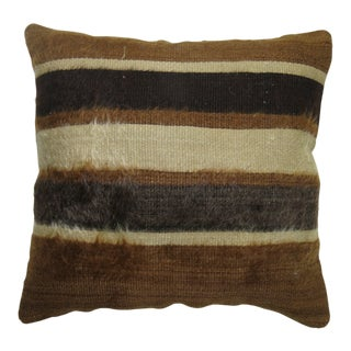 Vintage Mohair Rug Pillow For Sale