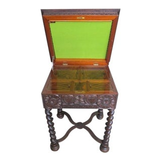 19th Century Swedish Scandinavian Gothic Sewing Table For Sale