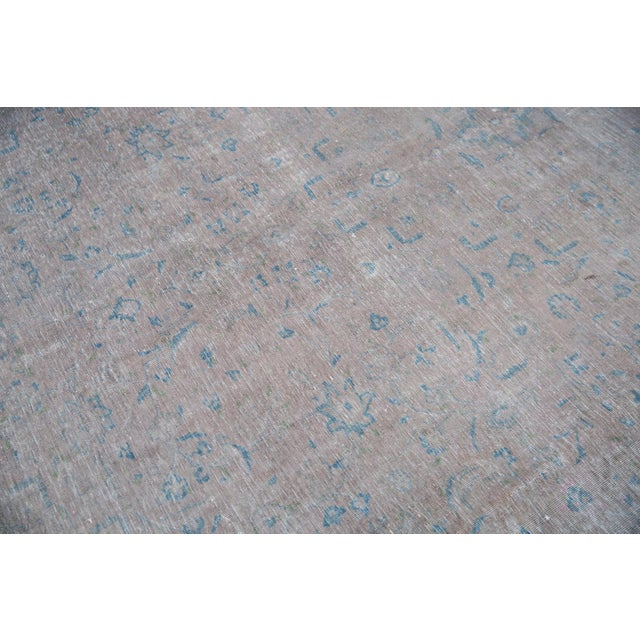 "Vintage Distressed Kashan Carpet - 9'6"" X 12'1"" For Sale In New York - Image 6 of 13"