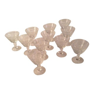 Baccarat Texas Champagne Coupe/ Tall Sherbert Glasses - Set of 11 For Sale