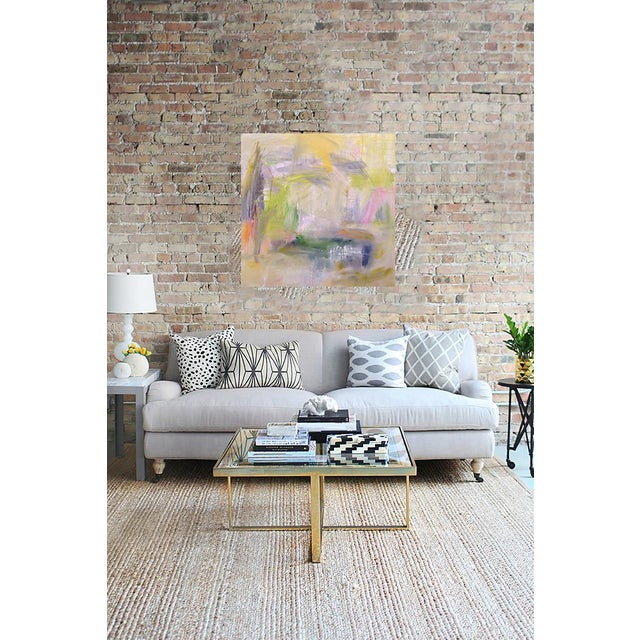 "2010s Large Abstract Painting by Trixie Pitts ""Misty Morning"" For Sale - Image 5 of 8"