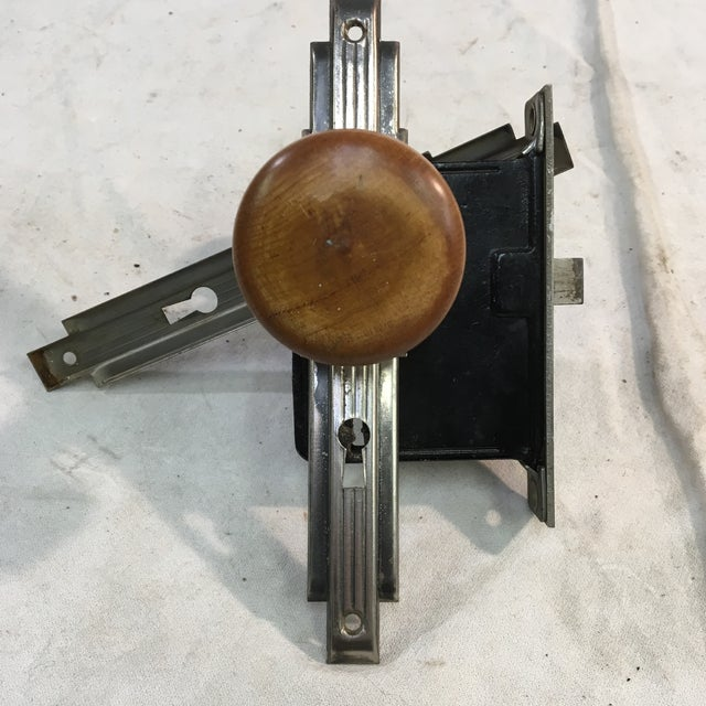 Art Deco Antique Art Deco Mortise Lock Box With Door Knobs For Sale - Image 3 of 12