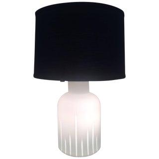 Italian Murano Case Glass Table Lamp Attributed to La Murina, Circa 1970-1980 For Sale