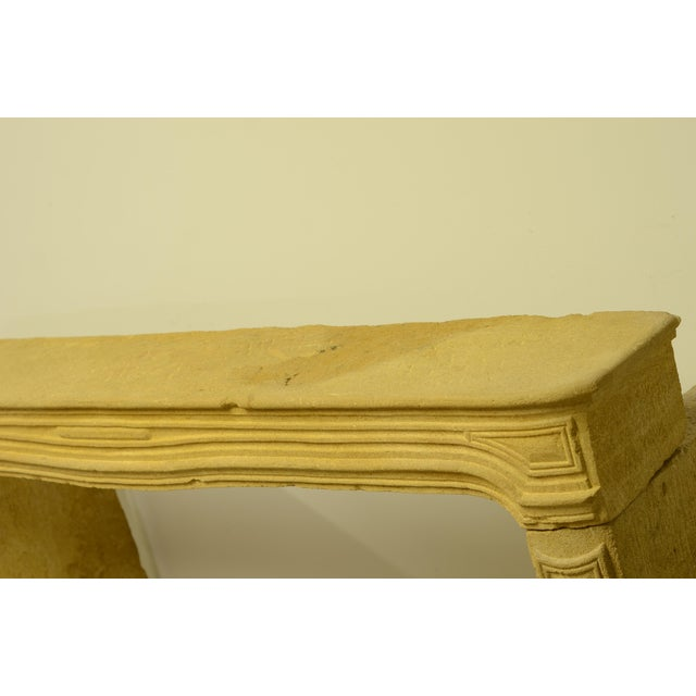 Antique Limestone Fireplace From France, 19th Century For Sale - Image 6 of 12