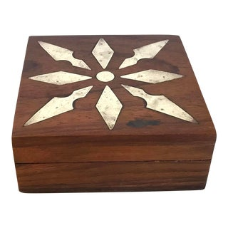 Late 20th Century Vintage Wooden Box For Sale
