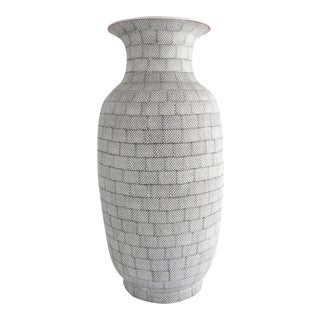 Contemporary Asian Inspired Porcelain Vase For Sale