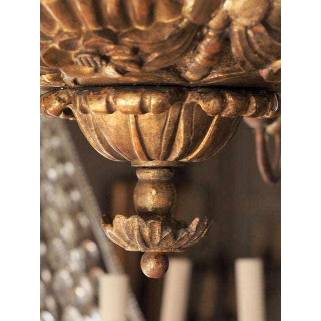 Early 19th Century Early 19th Century Italian Giltwood Chandelier For Sale - Image 5 of 9