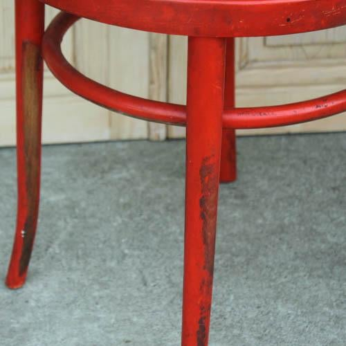 Red French Bentwood Dining Chair - Image 6 of 7