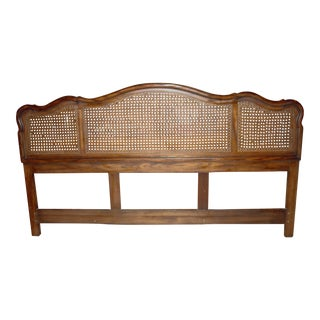 1978 French Country Century Caned Headboard For Sale