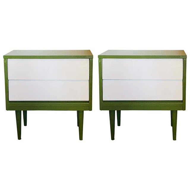 Mid Century Modern Two Tone Nightstands - a Pair For Sale - Image 13 of 13