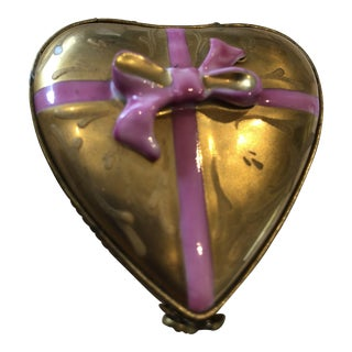 Limoges Heart Shaped Box of Chocolates