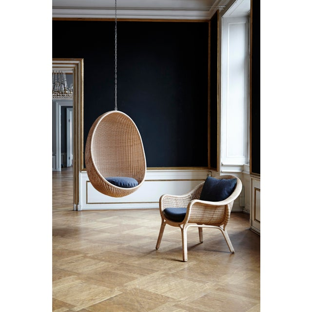Nanna Ditzel Hanging Egg Chair - Natural - Sunbrella Sailcloth Shade Cushion with 5 Foot Chain For Sale In Minneapolis - Image 6 of 11
