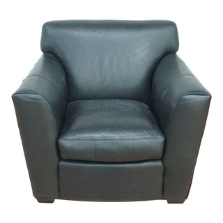 Room & Board Leather Club Chair For Sale