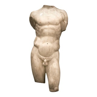 Roman Marble Torso of a Nude Male For Sale