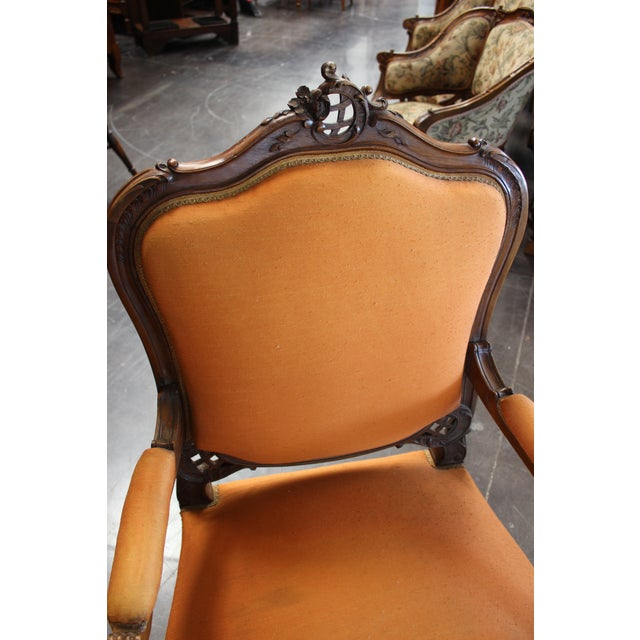 Antique Louis XV Style Armchair - a Pair For Sale - Image 10 of 13