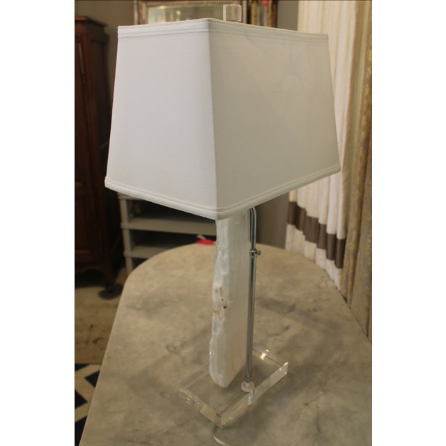 Transparent Satin Spur Table Lamp For Sale - Image 8 of 10