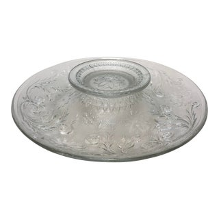 Pressed Glass Hors D'oeuvre Platter For Sale