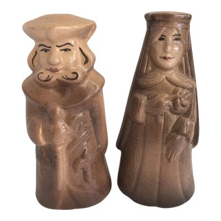 Mid-Century King & Queen Salt & Pepper - A Pair For Sale